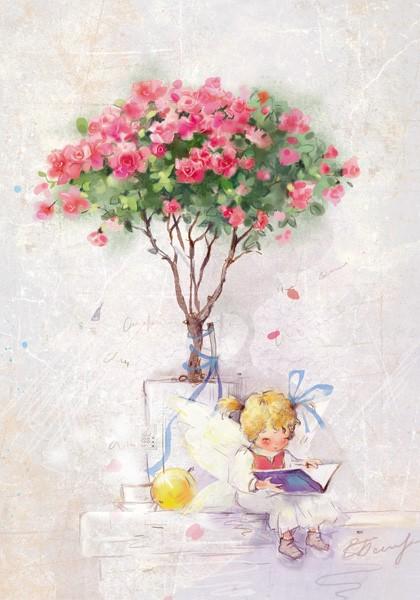 Под розовым деревцем