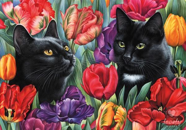 В тюльпанах