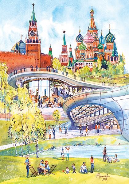 Весенняя Москва. Парк Зарядье