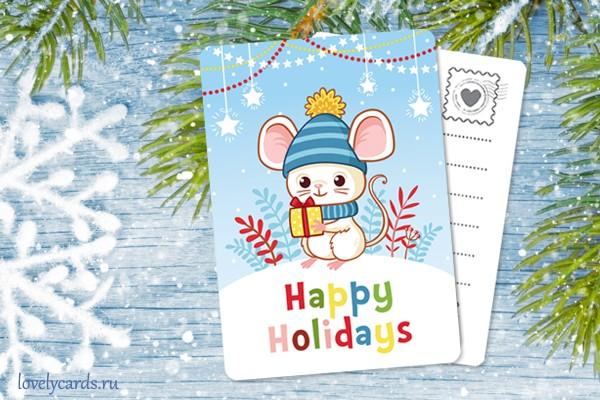 Мышка. Мини-открытка