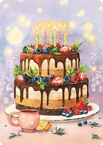 Счастливого Дня рождения. Мини-открытка