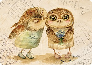 Поцелуй. Мини-открытка