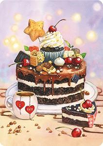 Тортик. Мини-открытка