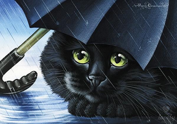 Чёрный зонтик